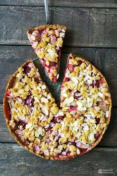Säuerlich-süßer Himbeer-Rhabarber-Kuchen | Madame Cuisine Rezept