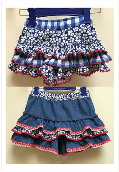 Frilly shorts sewing pattern girls shorts pattern by Felicity Patterns