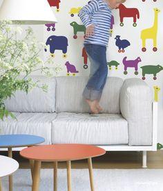 Marimekko 4  tapeta dziecięca w stylu skandynawskim i duńskim