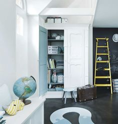 Done by Deer Farrow Ball, Tall Cabinet Storage, Locker Storage, Ikea, Blackboard Paint, Done By Deer, Nordic Interior Design, Decoration, Room Inspiration