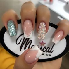"1,126 curtidas, 4 comentários - Magical Spa (@magicalnailspa) no Instagram: ""#magicalnailspa"" Bb, Nail Designs, Hair Beauty, Nails, Finger Nails, Templates, White Nail Designs, Nails With Stripes, Blue"