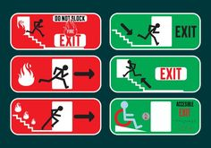Exit signs in Vector Fromat -   Several exit and emergency exit signs that you can use for your projects  - https://www.welovesolo.com/exit-signs-in-vector-fromat/?utm_source=PN&utm_medium=weloveso80%40gmail.com&utm_campaign=SNAP%2Bfrom%2BWeLoveSoLo