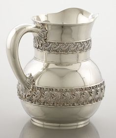 AN AMERICAN SILVER WATER PITCHER. Tiffany & Co., New York