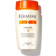 """Bain Satin, £15.30, Kérastase    """"This makes even the driest hair look and feel amazing,"""" says hairstylist Luke Anthony, who uses it on Miranda Kerr. """"I always recommend people leave it on for up to a few minutes before rinsing, to allow the conditioning ingredients to penetrate more fully."""""""
