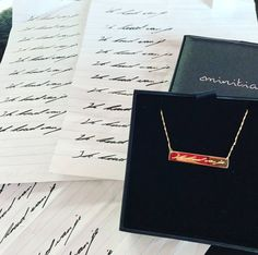 This Practise makes perfect.. Surprised his love with a handwritten barnecklace....