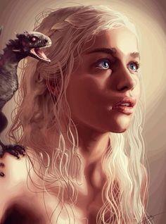 Game of thrones fan art, Daenerys Targaryen, mother of Dragons