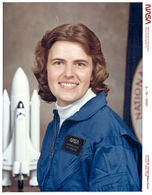 Shannon Matilda Wells Lucid (born January 14, 1943) is an American biochemist and a retired NASA astronaut.[1] At one time, she held the record for the longest duration stay in space by an American, as well as by a woman. She has flown in space five times including a prolonged mission aboard the Mir space station.
