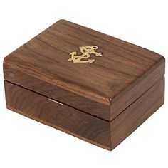 Wooden Trinket Jewelry Box Sleek and Simple Gift for Girls 4 x 3 x 175 inches * Be sure to check out this awesome product.