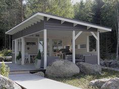 Olotar Maku + Varjo Pool Gazebo, Hot Tub Gazebo, Backyard Pavilion, Backyard Patio Designs, Pergola Patio, Outdoor Curtains, Outdoor Rooms, Outdoor Living, Model House Plan