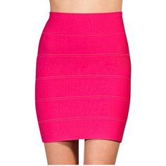 Pre-owned BCBGMAXAZRIA Bandage In Hot Mini Skirt ($64) ❤ liked on Polyvore