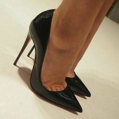 Louboutin patent high heel pumps