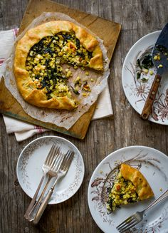 Kale, Corn, & Feta Galette | White On Rice Couple
