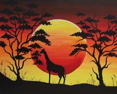 African Artwork #orange #yellow #giraffe #africa #history #culture #powerful #africanartwork #art #strong #nightfall African Colors, African Artwork, African Culture, Giraffe, Color Schemes, Moose Art, Palette, Orange Yellow, History