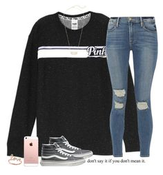 """💋"" by southernstruttin ❤ liked on Polyvore featuring Vans, Frame, Kendra Scott and Sydney Evan"