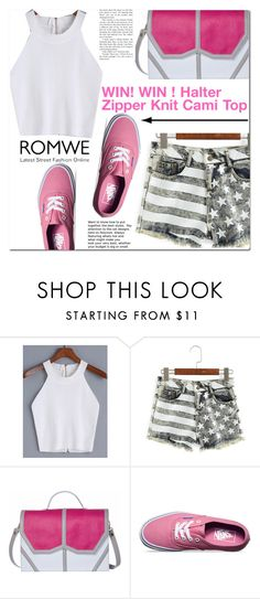 """""""Romwe"""" by cherry-bh ❤ liked on Polyvore featuring Emeline Coates, Vans and romwe"""
