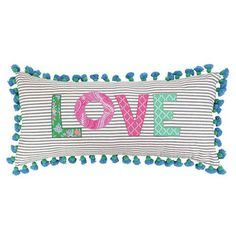 Love this pillow for the master bedroom but maybe in different colors
