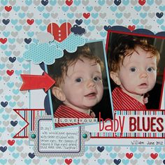 #papercraft #scrapbook #layout Bella Blvd....