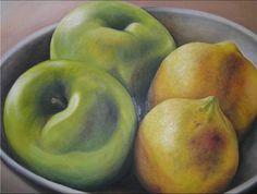 Manzanas y limones. Artista: Elena Isla Casares