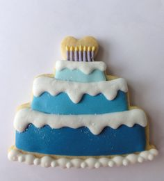 Ombre Birthday cake cookie