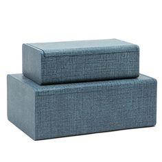 Made Goods Halia Boxes (Set of 2) - Denim | Baskets, Boxes, & Bins | Accessories | Decor | Candelabra, Inc.