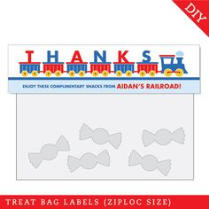 train treat bag topper from Chickabug