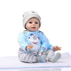 """78.84$  Buy here - http://alihj2.worldwells.pw/go.php?t=32773499009 - """"The Latest 22"""""""" 55cm Silicone Reborn Baby Dolls Best Gift 100 Safe And Lifelike Simulation Baby Dolls Newborn For Kid Brinquedos"""" 78.84$"""