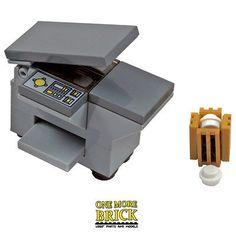 LEGO-Office-Photocopier-Printer-with-waste-paper-bin-NEW – craftsfurniture Lego Modular, Lego Design, Lego Office, Casa Lego, Apple Store, Lego Furniture, Furniture Ideas, Classic Lego, Amazing Lego Creations