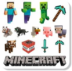 Adesivo Personagens Minecraft | Mundo do adesivo | Elo7 Minecraft Cake Toppers, Bolo Minecraft, Minecraft Logo, Minecraft Party Food, Minecraft Birthday Party, Steve Minecraft, Minecraft Clipart, Minecraft Pictures, Minecraft Wallpaper