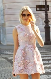 Summer dress with flower work for ladies