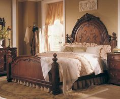 Jessica McClintock Home Romance Victorian Mansion Bed-American Drew [AD-721-313R] - $2,100.00: Beds by American Drew at Homelement.com, Furniture Shopping Made Simple, Bedroom Furniture, Dining Room Furniture, Living Room Furniture, Homelegance Furniture