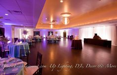 Lighting can make such a difference!! The Villa, East Bridgwater, MA. GrooveEvents.us decor & lighting