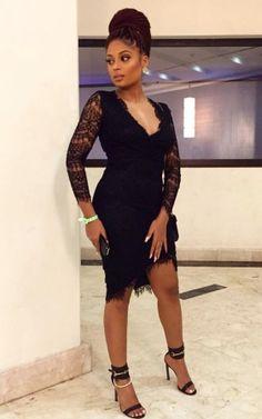 Welcome to Koko level's Blog | Koko level's: Singer Lola Rae venture out in little black dress