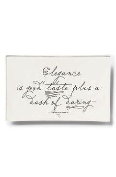 """""""Elegance is good taste plus a dash of daring."""""""