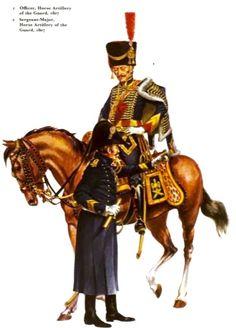 Sergente maggiore e ufficiale dell'artiglieria a cavallo