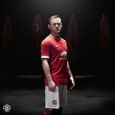 Wayne Rooney in the 2014/15 @manutd home kit.