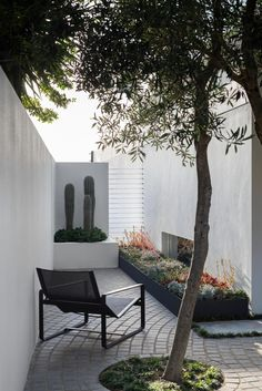 Blurring the borders between sea, sky and earth, this coastal garden delivers intimate, meditative spaces along with a sense of affinity with the limitless. Seaside Garden, Coastal Gardens, Modern Gardens, Cottage Gardens, Small Gardens, Piscina Rectangular, Cool Fire Pits, Courtyard Design, Courtyard Gardens
