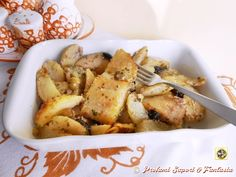 Baccala al forno con olive e patate Blog Profumi Sapori & Fantasia
