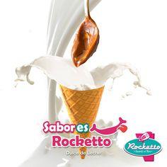 """Tan naturales y deliciosos como directo del frasco!!! """"SABORes ROCKETTO"""" Dulce de leche. Pídelo en helado o malteada!"""