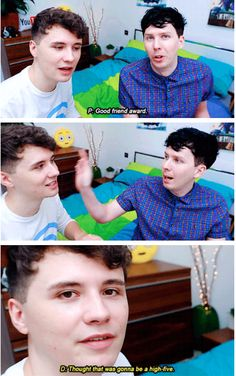GIF SET: DAN CURLS MY HAIR! Yes we work quick phamily posted this gif set the day the video came out