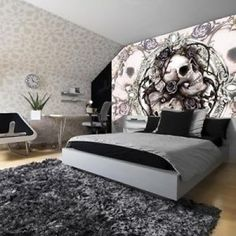 Murals Decorations Art Home New Skulls Skull Gothic Goth 977p