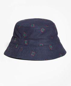 335edf54e24 Brooks Brothers Medallion-Embroidered Bucket Hat