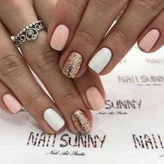 Beige Nails, Pink Nails, White Shellac Nails, Best Acrylic Nails, Acrylic Nail Designs, Acrylic Art, Shellac Nail Designs, Sassy Nails, Cute Nails