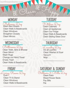 Image from https://refinedsparkle.files.wordpress.com/2015/03/weekly-cleaning-schedule.jpg.