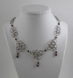 Game of Thrones Chainmail Necklace Garnet Steampunk Renaissance Cosplay SCA LOTR | eBay