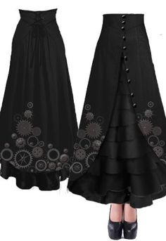 Victorian Steampunk Walking Skirt by Amber Middaugh