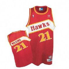 fe95f16f5fcb Dominique Wilkins Swingman Throwback Jersey - Red Mitchell And Ness Atlanta  Hawks NBA Jersey