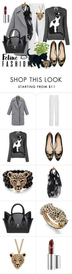 """Meow is the time ..."" by ffendi ❤ liked on Polyvore featuring DKNY, N°21, Potting Shed Creations, Kate Spade, Palm Beach Jewelry and catstyle"