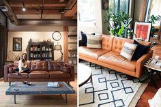 | Los sofás de cuero en la decoración del hogar