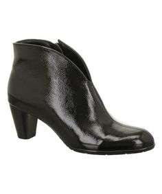 Look what I found on #zulily! Black Tricia Leather Bootie