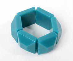 vintage bracelet green blue plastic parts chunky by northvintage, kr120.00